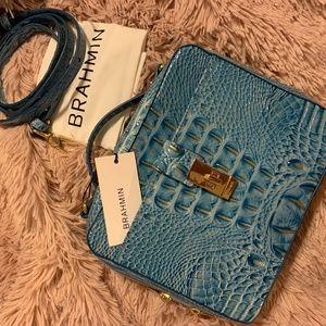 NWT Brahmin Evie Textured Leather Cerulean